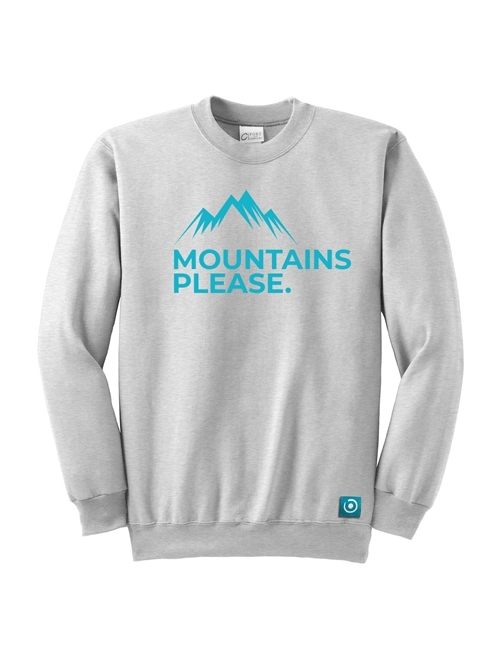 "SWEATSHIRT ""MOUNTAIN PLEASE"""