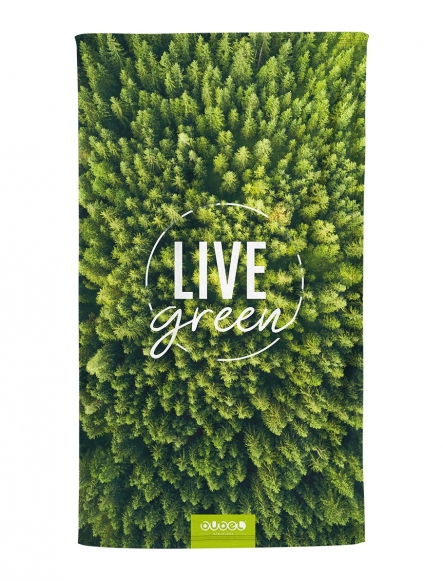 """LIVE GREEN"" TOWEL"