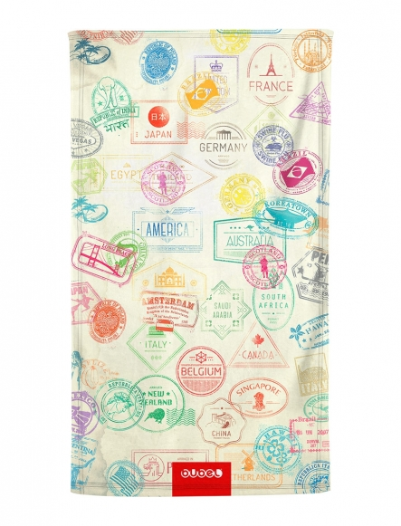 """TRAVEL PRINTS"" TOWEL"
