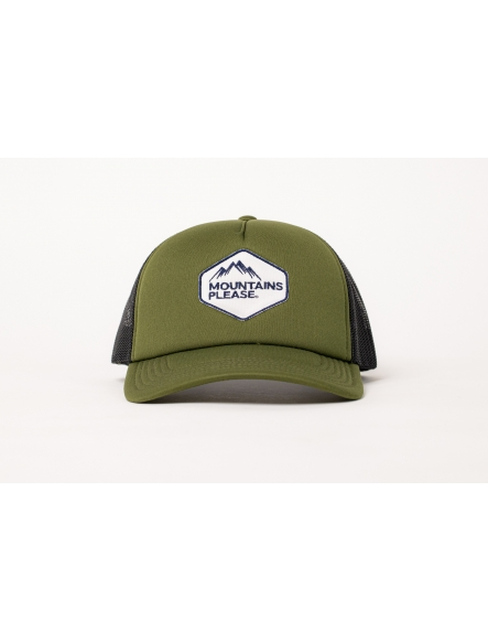 "GORRA ""MOUNTAINS PLEASE"" KAKI"