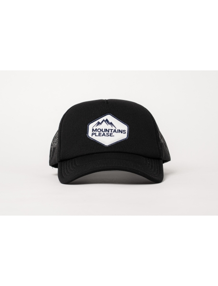 """MOUNTAINS PLEASE"" BLACK CAP"