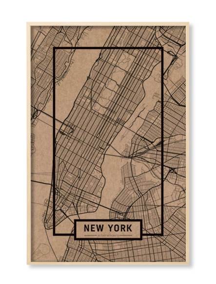 """NEW YORK"" MAP"
