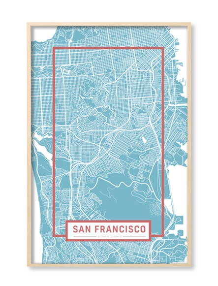 """SAN FRANCISCO"" MAP"