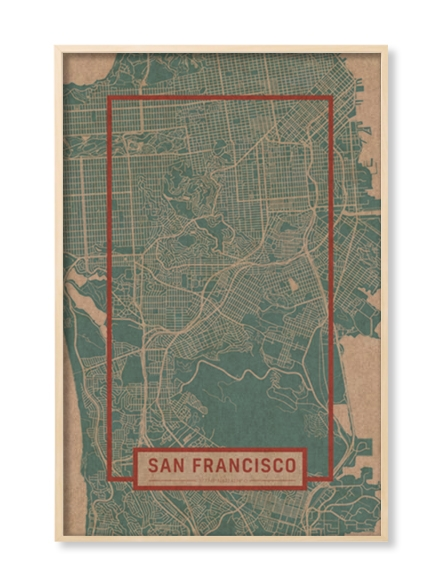 """SAN FRANCISCO"" MAP"