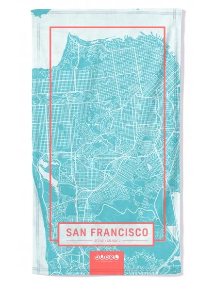 """SAN FRANCISCO MAP"" TOWEL"